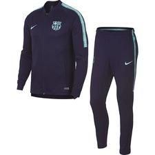 barcelona træningsdragt dry squad knit - lilla/turkis - træningsdragt