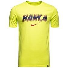 barcelona t-shirt preseason dry - gul - t-shirts