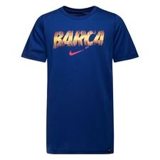barcelona t-shirt preseason dry - navy børn - t-shirts