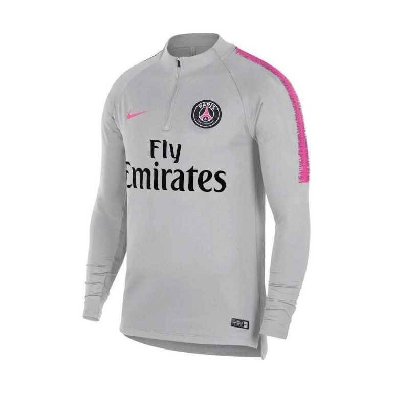Paris Saint-Germain Maillot d'Entraînement Dry Squad Drill - Gris/Rose Enfant