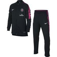 Paris Saint-Germain Träningsoverall Dry Squad Knit - Svart/Rosa Barn