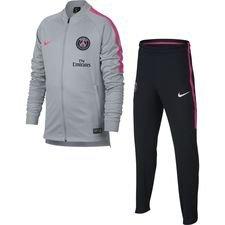 Paris Saint-Germain Träningsoverall Dry Squad Knit - Grå/Rosa Barn