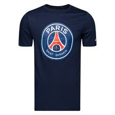 paris saint-germain t-shirt crest - navy - t-shirts