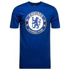 Chelsea T-Shirt Crest - Blå/Vit