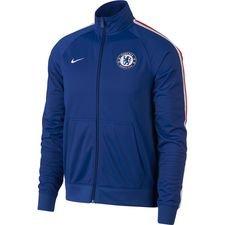 chelsea træningsjakke fz nsw - blå/hvid - jakker
