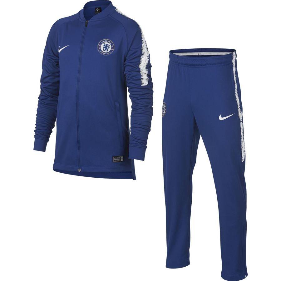 Chelsea Survêtement Dry Squad Knit - Bleu/Blanc Enfant