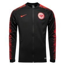 eintracht frankfurt træningsjakke anthem - sort/rød - træningsjakke