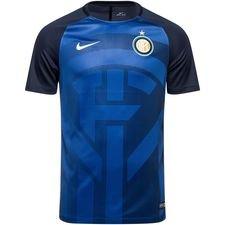 inter trænings t-shirt dry squad gx 2.0 - blå/navy/hvid - træningstrøjer