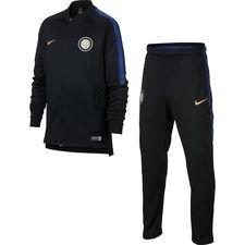 Inter Trainingspak Dry Squad Knit - Zwart/Blauw Kinderen