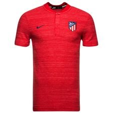 Atletico Madrid Piké Authentic Grand Slam - Röd/Navy