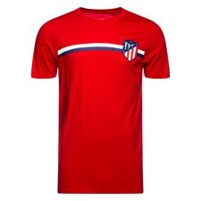 Atletico Madrid T-Shirt Crest - Röd