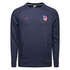 atletico madrid sweatshirt nsw crew - navy/rød - sweatshirts