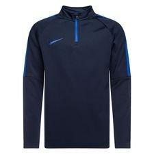 nike trainingsshirt midlayer drill top academy - navy/blauw kinderen - trainingsshirts