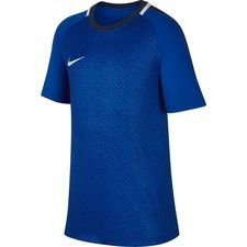 nike trænings t-shirt dry academy gx 2 - blå/navy børn - t-shirts