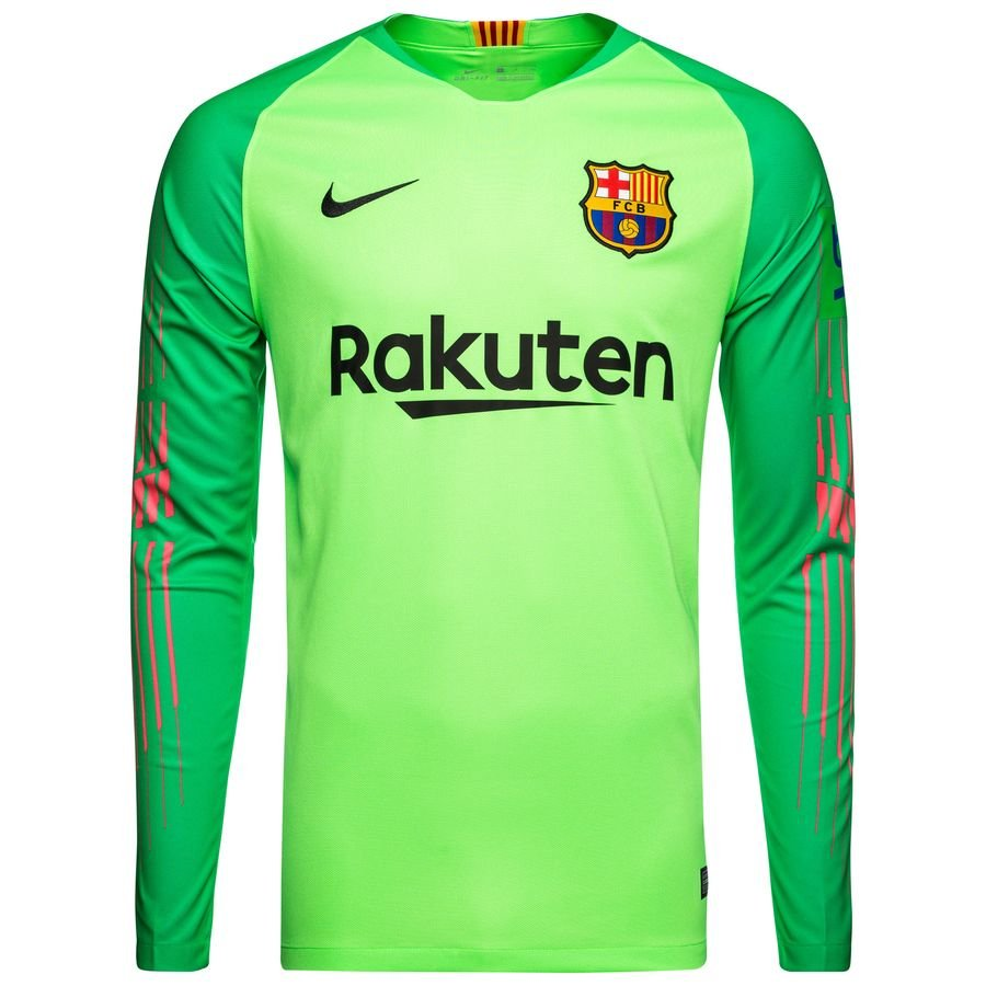 Barcelona Goalkeeper Shirt 2018 19 Green Strike Www Unisportstore Com
