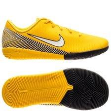 Nike Mercurial Vapor 12 Academy IC NJR Meu Jogo Pack - Gul/Vit/Svart Barn