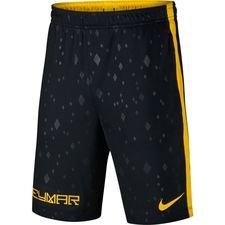 nike shorts dry squad njr meu jogo pack - sort/gul børn - træningsshorts