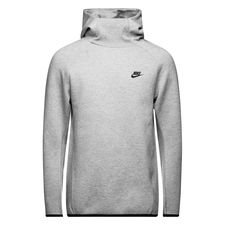 nike hættetrøje nsw tech fleece - grå/sort - hættetrøjer