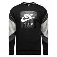 nike sweatshirt nsw air crew - schwarz/grau/weiß - sweatshirts