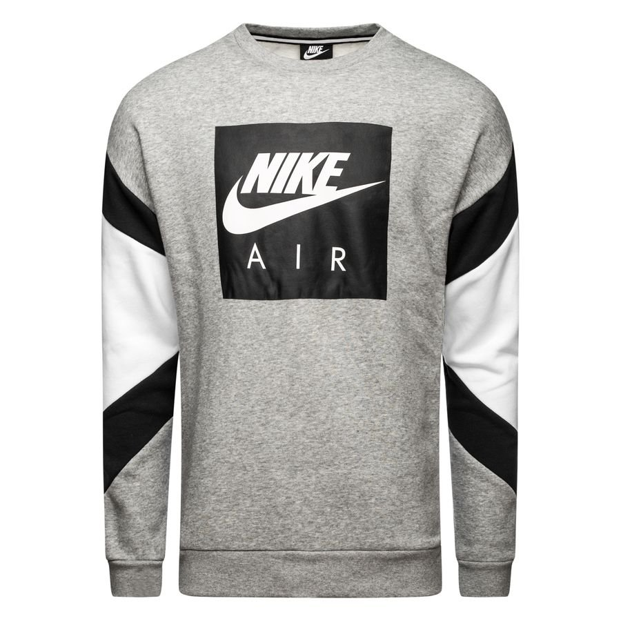 Nike Sweat-Shirt NSW Air Crew - Gris/Noir/Blanc