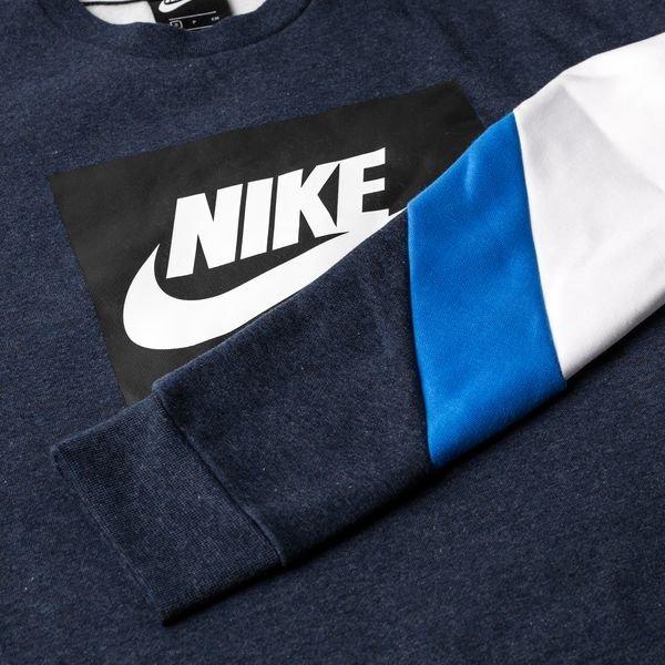 livraison rapide 100% authentifié capture Nike Sweatshirt NSW Air Crew - Obsidian Heather/Blue/White