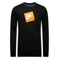 nike t-shirt l/æ futura - sort/hvid - t-shirts