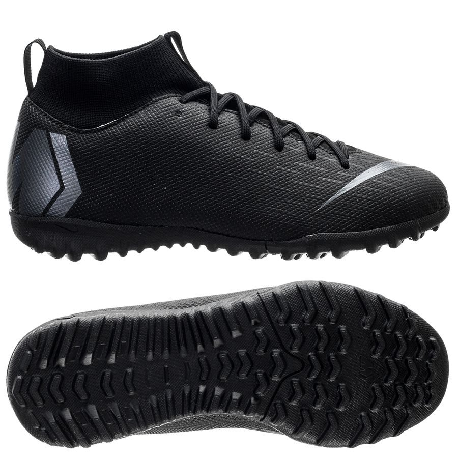 nike mercurial superfly 6 academy tf stealth ops - black kids - football  boots ... 6c98ad99e3c85