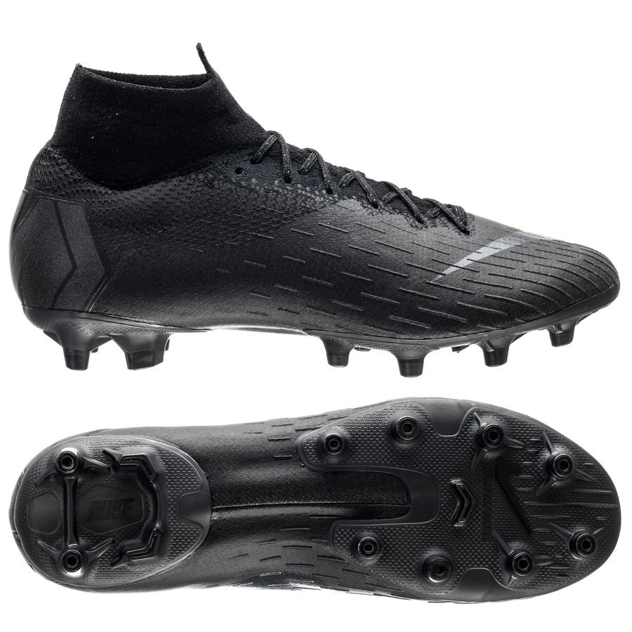 Nike Mercurial Superfly 6 Elite AG-PRO - Sort/Sort