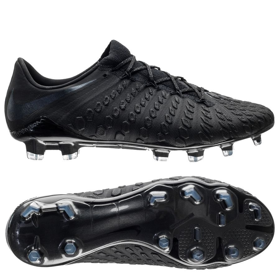 Nike Hypervenom 3 Elite FG - Sort