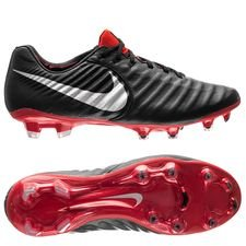 Nike Tiempo Legend 7 Elite FG Raised On Concrete - Black/Metallic Silver/Light Crimson
