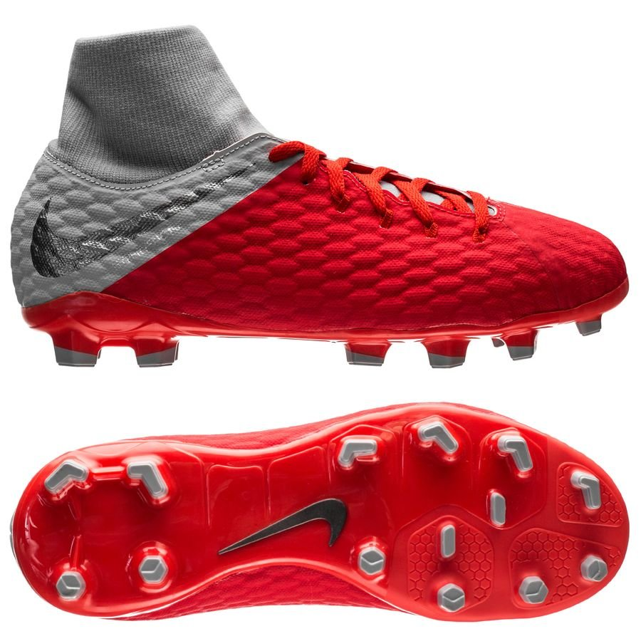 Nike Hypervenom 3 Academy DF FG Raised On Concrete - Rouge/Gris Enfant