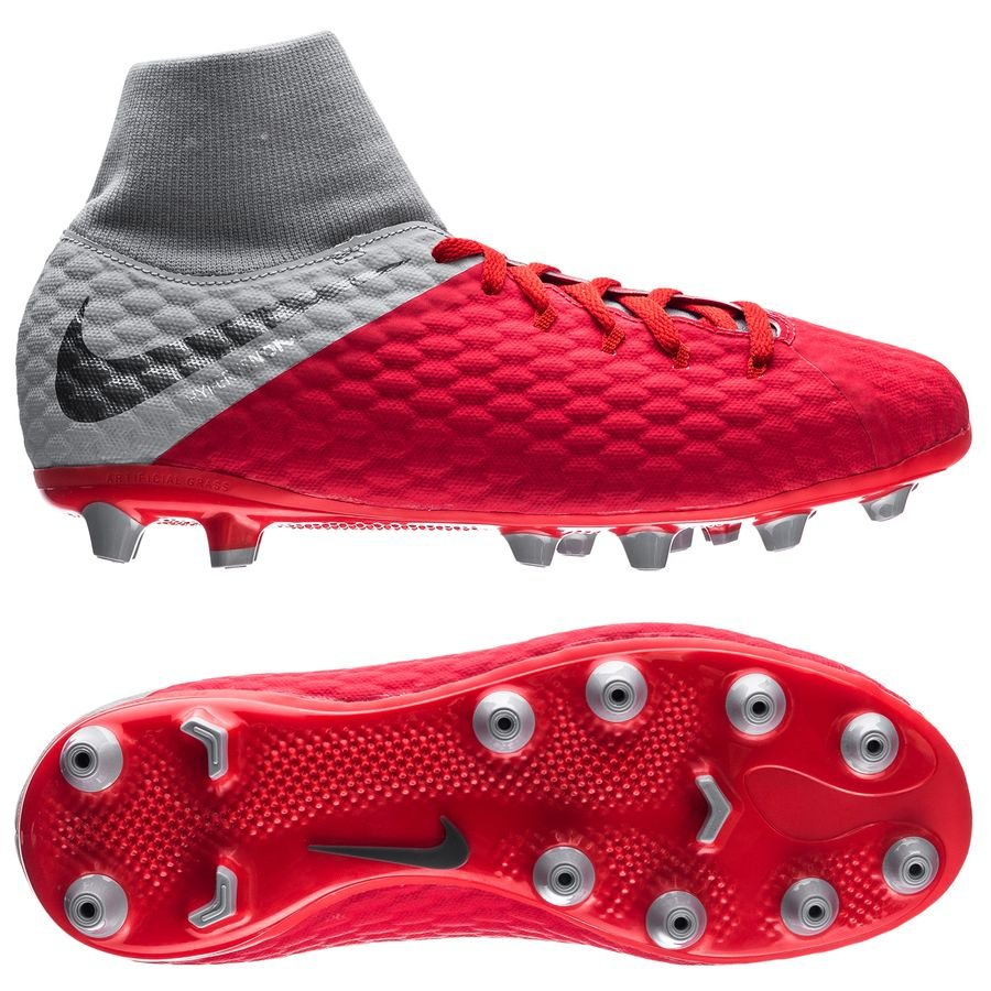 Nike Hypervenom 3 Academy DF AG-PRO Raised On Concrete - Rouge/Gris Enfant