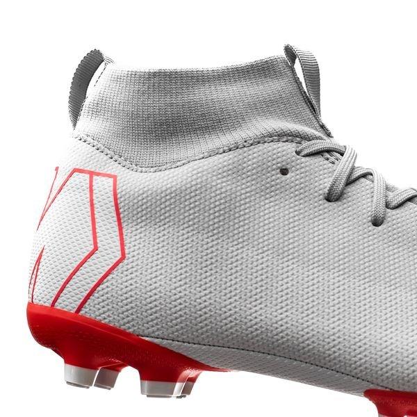 online retailer 33296 709f2 Nike Mercurial Superfly 6 Academy MG Raised On Concrete - Wolf Grey Light  Crimson Kids