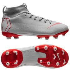 Nike Mercurial Superfly 6 Academy MG Raised On Concrete - Grijs/Rood Kinderen