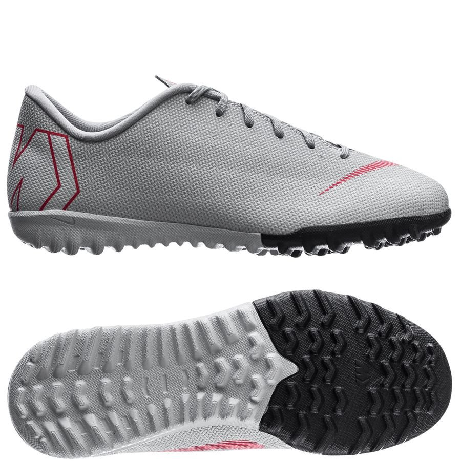 Nike Mercurial VaporX 12 Academy TF Raised On Concrete - Grå/Rød Børn