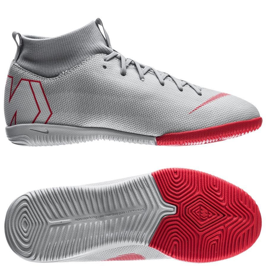 Nike Mercurial Superfly 6 Academy IC Raised On Concrete - Gris/Rouge Enfant