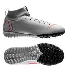 Nike Mercurial Superfly 6 Academy TF Raised On Concrete - Grijs/Rood Kinderen