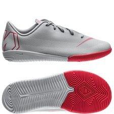 Nike Mercurial VaporX 12 Academy IC Raised On Concrete - Grå/Röd Barn