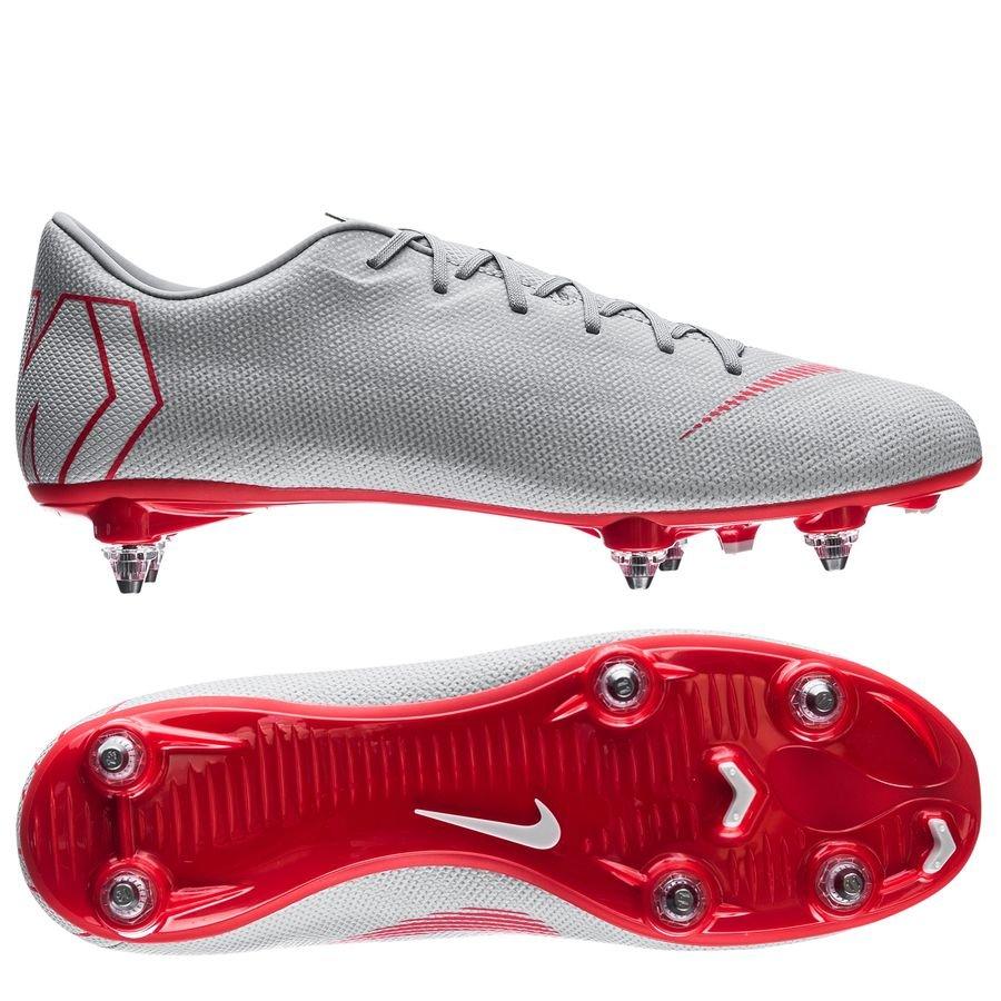 Nike Mercurial Vapor 12 Academy SG-Pro - Grå/Rød