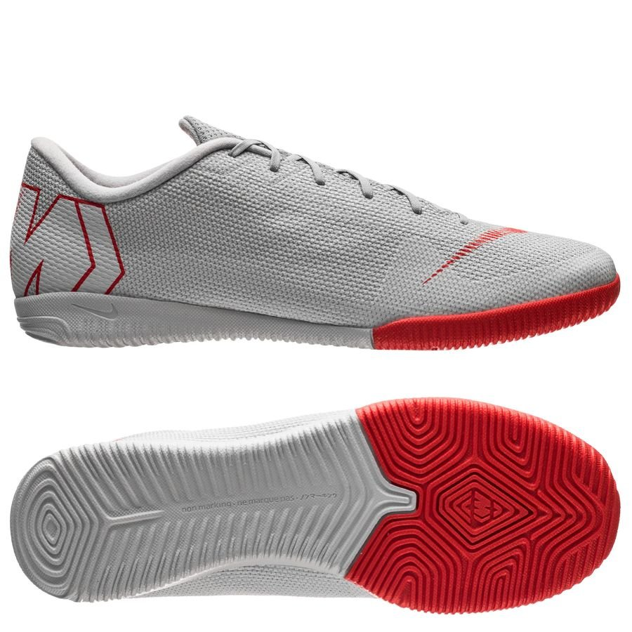 Nike Mercurial VaporX 12 Academy IC Raised On Concrete - Gris/Rouge