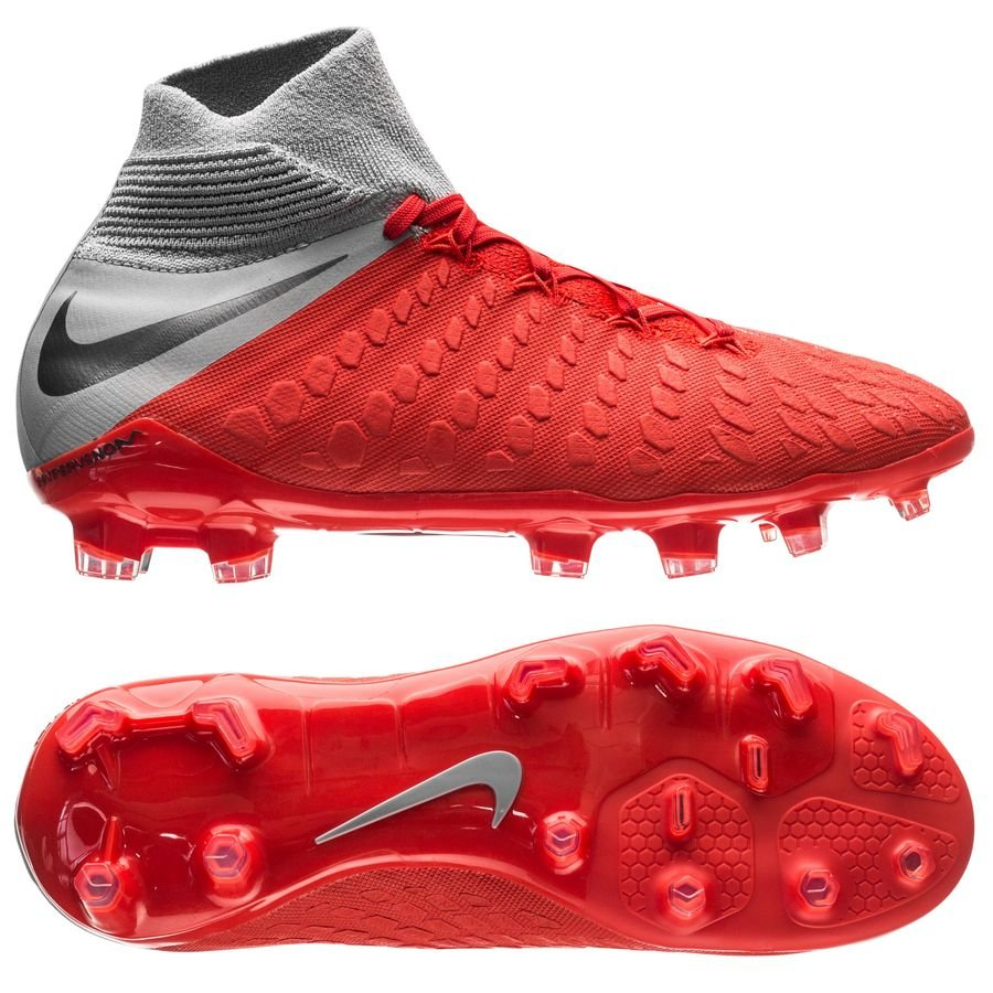 Nike Hypervenom 3 Elite DF FG Raised On Concrete - Rouge/Gris Enfant