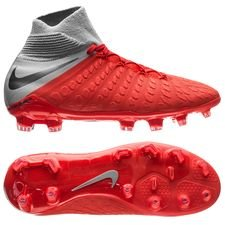Nike Hypervenom 3 Elite DF FG Raised On Concrete - Rood/Grijs Kinderen