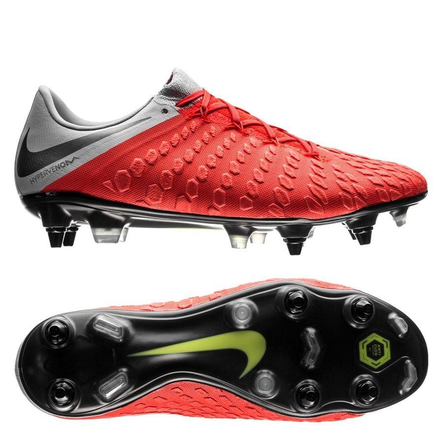 Nike Hypervenom 3 Elite SG-PRO - Rød/Grå