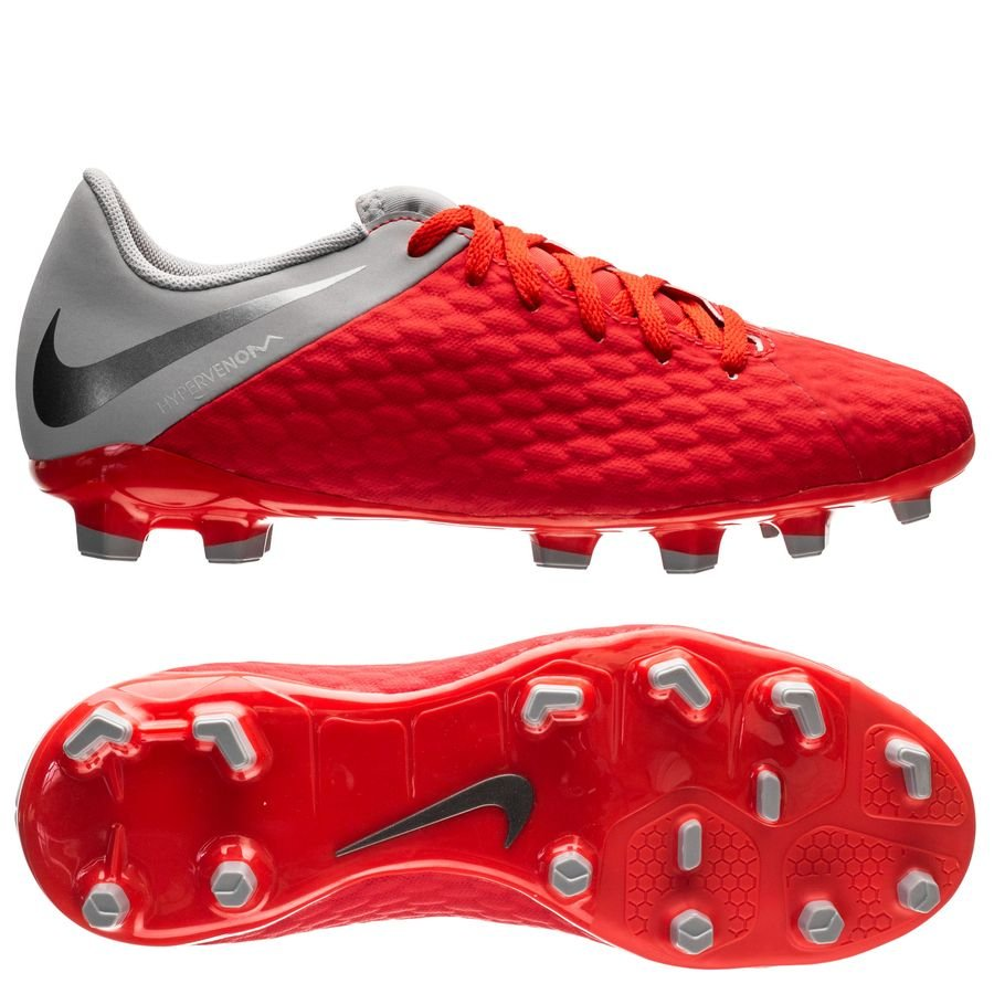 brand new 2fbf9 786a5 Nike Hypervenom 3 Academy FG Raised On Concrete - Light Crimson/Wolf Grey  Kids