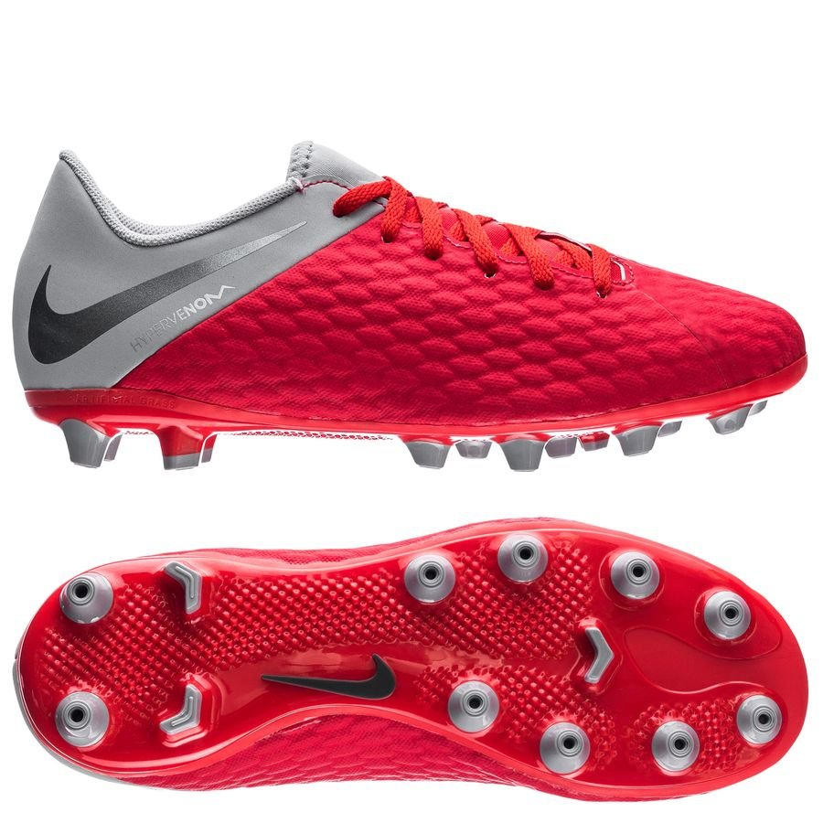 Nike Hypervenom 3 Academy AG-PRO Raised On Concrete - Rouge/Gris Enfant
