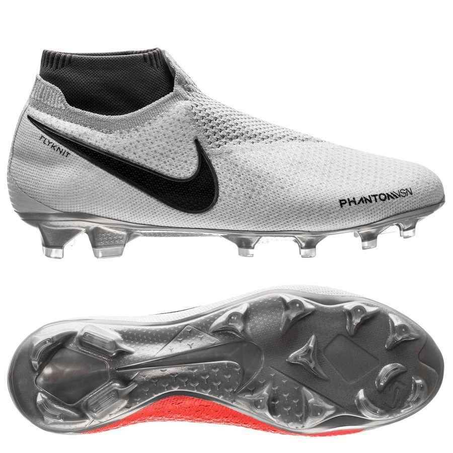 Nike Phantom Vision Elite DF FG Raised On Concrete - Gris/Noir/Rouge