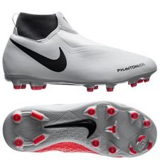Nike Phantom Vision Academy DF MG Raised On Concrete - Grijs/Rood Kinderen