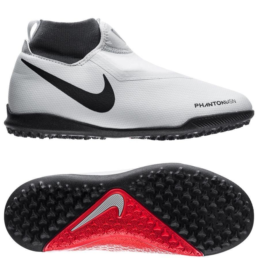 Nike Phantom Vision Academy DF TF Raised On Concrete - Gris/Rouge Enfant
