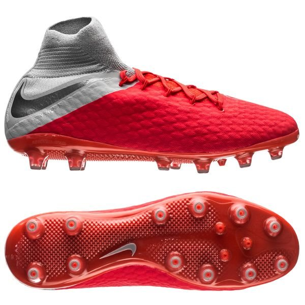 Nike Hypervenom 3 Pro DF AG-PRO - Rød/Grå