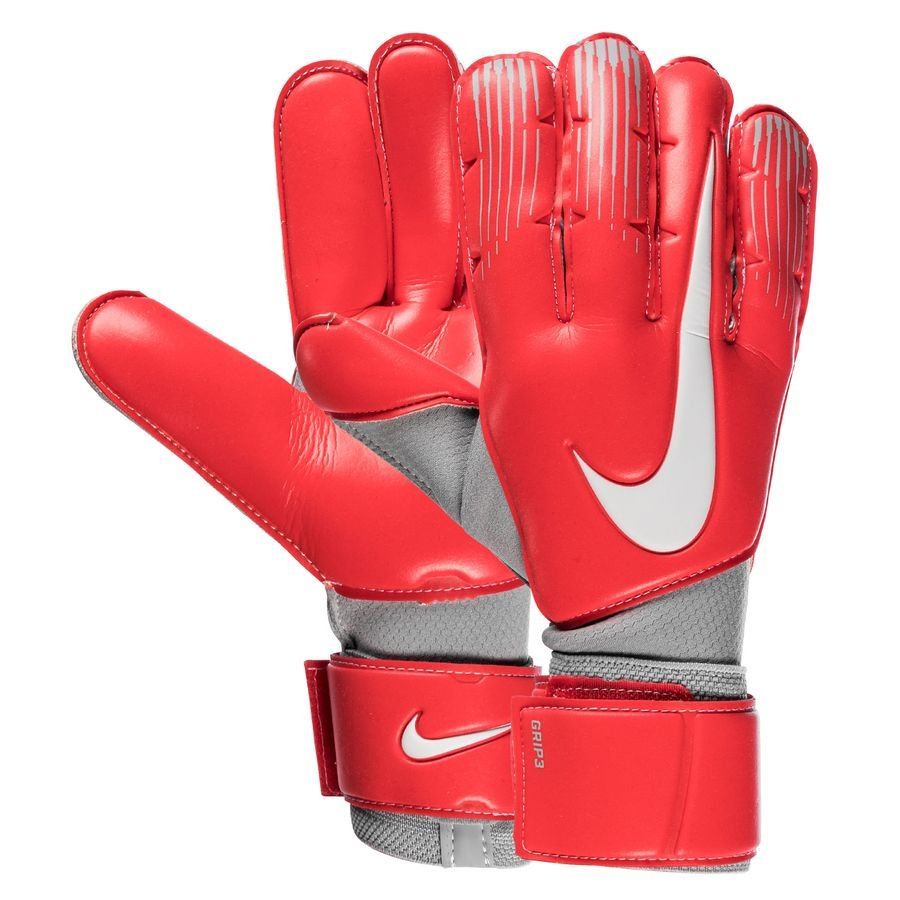 Nike Gants de Gardien Grip 3 Raised On Concrete - Rouge/Gris
